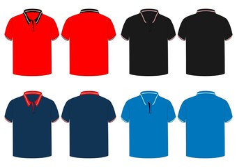 search photos mens polo shirt with rib line design vector rh fotolia com polo shirt vector side view polo shirt vector ai