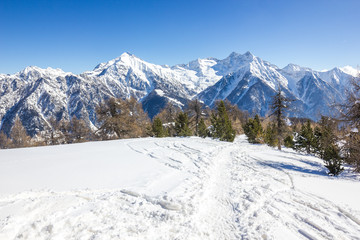 Wall Mural - Paesaggio invernale di montagna