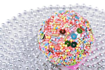 Multicolored christmas ball