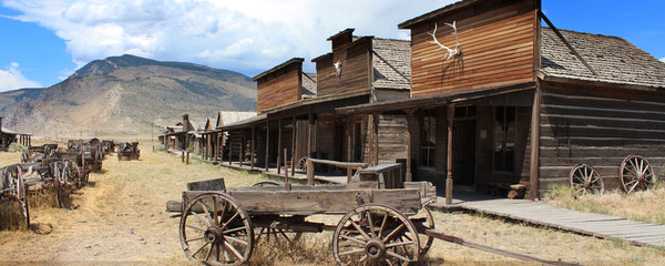 Cody / Wyoming - Ghost town Wall mural