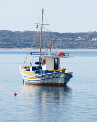 "Milos island Greece, traditional fishing boat ""kaiki"""
