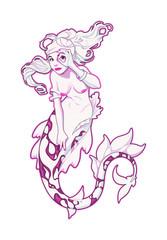 Mermaid in pink.