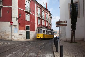Lisbon Tram Route 12 in Portugal