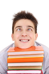 Funny Student with the Books