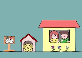 それぞれの家