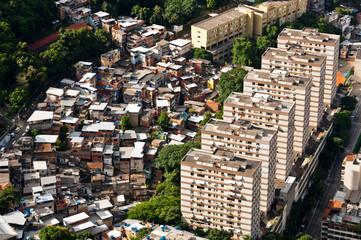 Urban Contrasts of Rio de Janeiro, Slums and Condos
