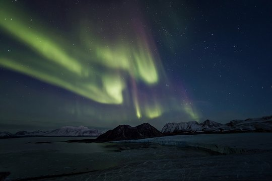 atural phenomenon of Northern Lights (Aurora Borealis)