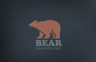 Bear Logo design vector template. Wild animal zoo icon