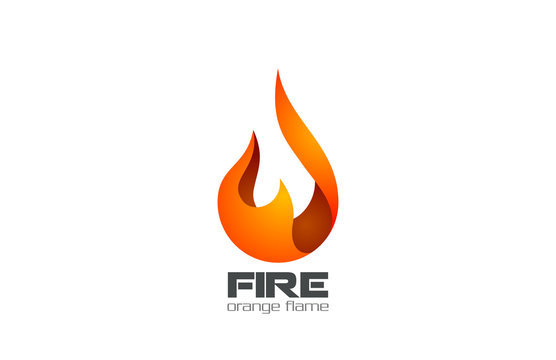 Fire Flame Logo design vector. Fireball logotype icon