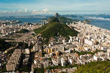 Cityscape of Rio de Janeiro Urban Areas and Hills
