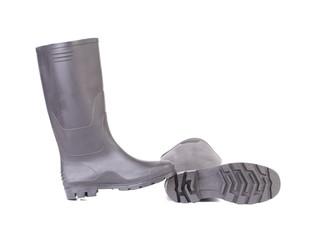High rubber boots black color.