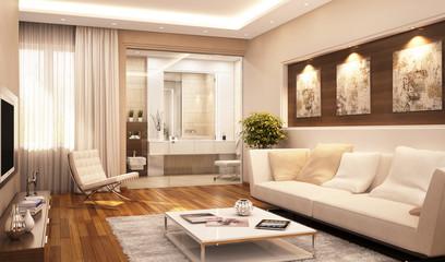 Modern interior in hotel