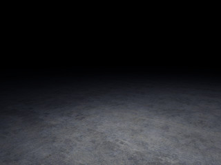 concrete floor with dark background