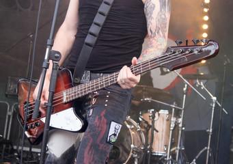 Bass Gitarre Rock Konzert Open Air