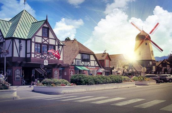 Danish European town of Solvang