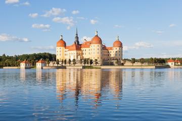 Dresden - Germany - Water reflection of Moritzburg