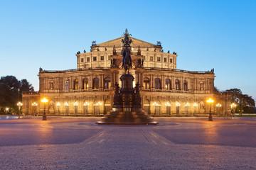 Dresden - Germany - Semper opera in the night