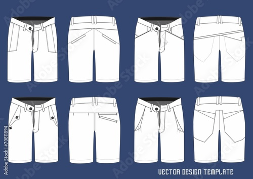 short pants design template