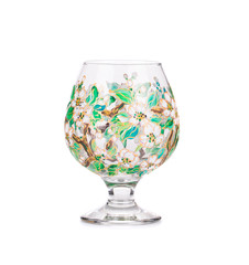 Lily of the valley on glass.