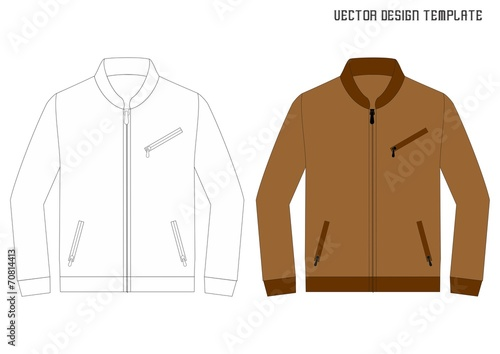 leather jacket design template stock image and royalty free vector