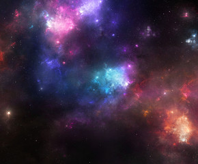 Colorful Space Nebulae