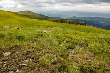 stones on the hillside of mountain range