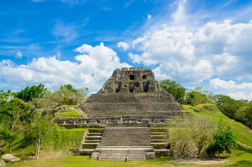 xunantunich maya site ruins in belize
