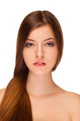 Fototapete - Beauty woman with healthy skin