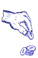 Doodle Hand, Pic a Money