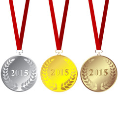 Set of 2015 medals