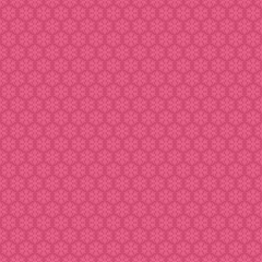 Pink seamless snowflakes pattern. Vector snow background.