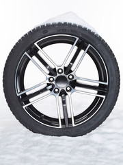 Winter tire in the snow