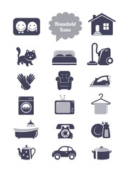Household icons set