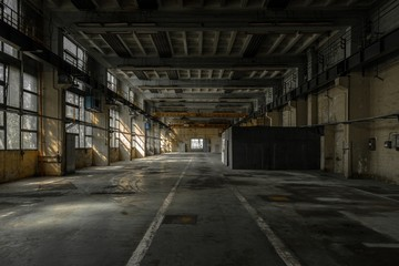 Wall Mural - Large industrial hall of a repair station