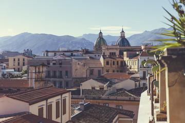 Italien, Sizilien, Palermo, Blick über die Dächer von Palermo