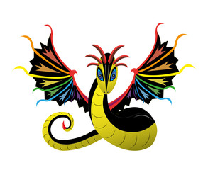 Winged snake rainbow