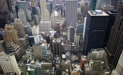 USA, New York, Manhattan, Blick auf Straßenschluchten