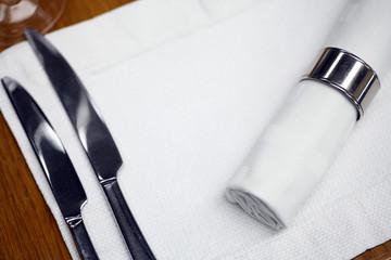Dinner in a restaurant