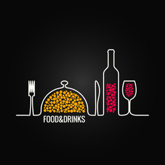 food and drink menu background
