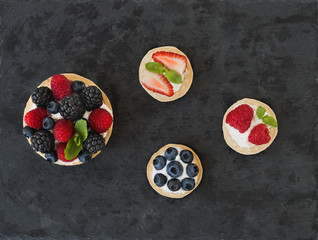 Berry and ricotta tarts