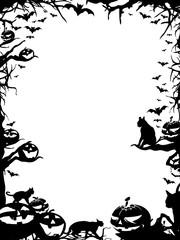 Halloween frame border isolated on white