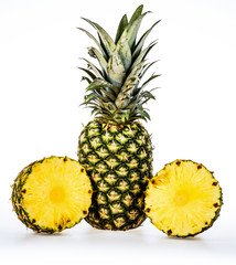 Pineapple or ananas with slices