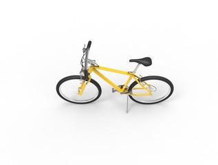 Yellow mountain bike - top view
