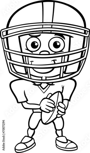 boy football player coloring page\