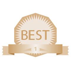 advertising vector vintage badge best number one