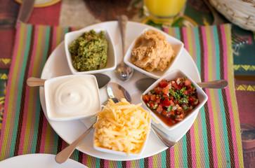 various kinds of sauces