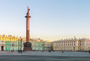 Palace Square and the Alexander Column of St. Petersburg