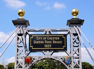 Suspension bridge plaque, Chester © Arena Photo UK Wall mural