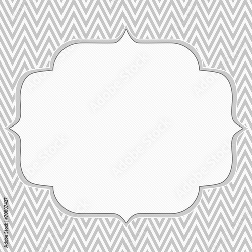 Gray and white chevron zigzag frame background