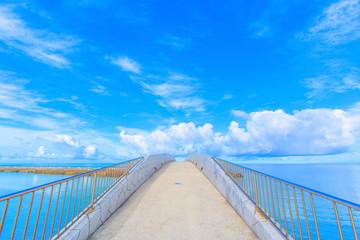 Arched bridge over the sea, Okinawa